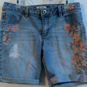 Girl's Mudd Denim shorts